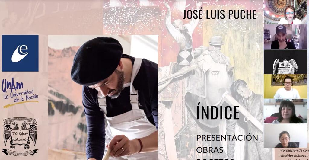 Jose-Luis-Puche-conferencia arte en tiempo de pandemia-univerdad nacional autonoma Mexico